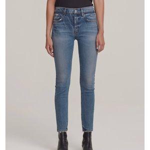 NWT AGOLDE Toni High-Rise Slim Jeans